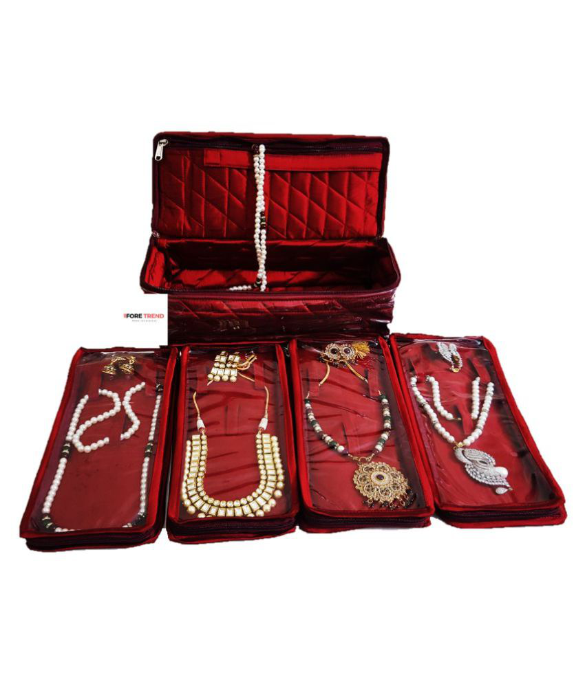 ForeTrend Big High Quality Locker Jewellery Kit Quilted