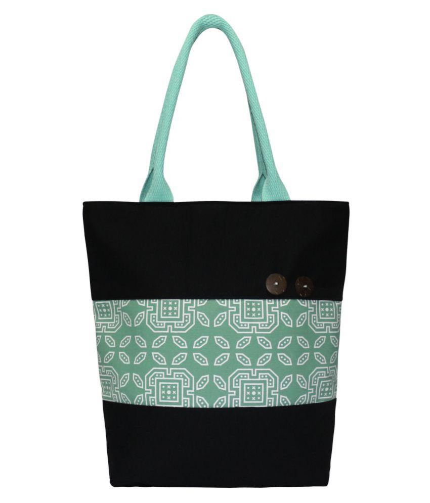 Angesbags Green Canvas Shoulder Bag