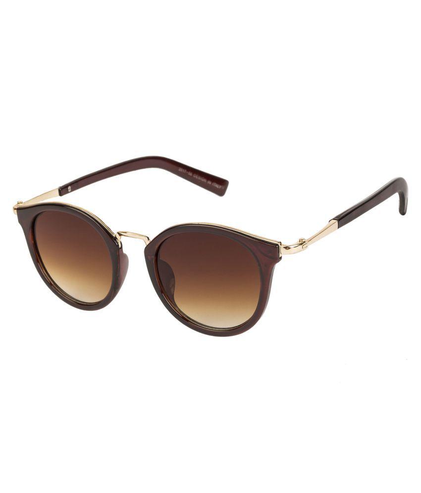 Arzonai Brown Round Sunglasses ( MA-1303-S2 )