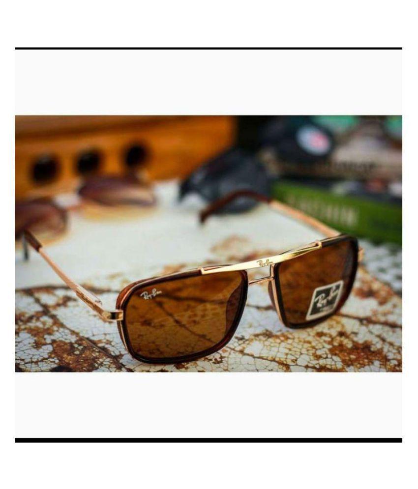 Stars Avaitor Brown Aviator Sunglasses ( cap )