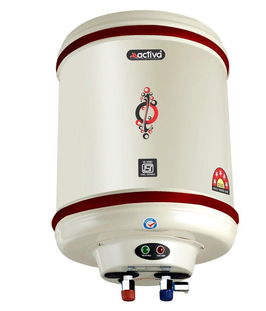 ACTIVA 25 LTR Storage 5 Star 2 KVA Geyser with Special Anti Rust Coating Metal Body,HD ISI Element Hotline (Ivory)