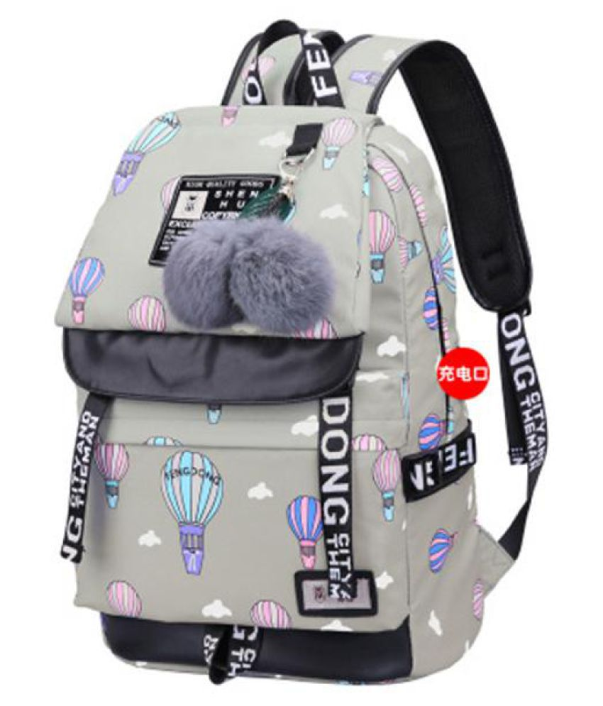 2018 Mochila Emoji Geometric Backpack Portable Backpack Laptop Bag