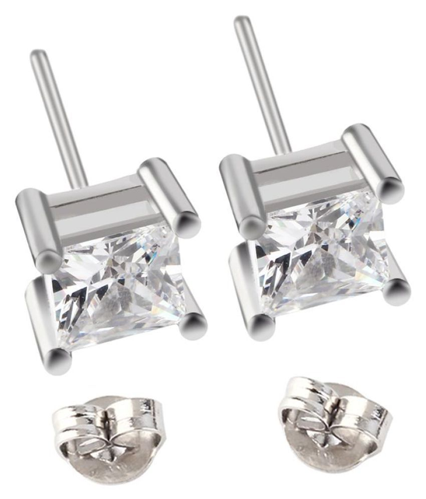 Man Woman Simple Four Claws Design Zircon Beautiful Cool Stud Earrings Buy Man Woman Simple Four Claws Design Zircon Beautiful Cool Stud Earrings Online In India On Snapdeal