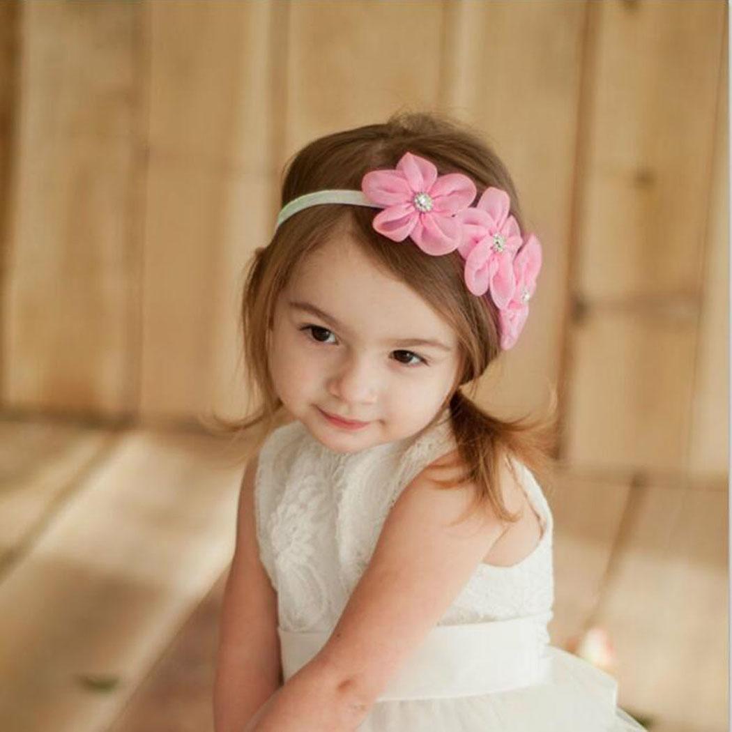 Toddler Christening Baby Smart Flower Headband Wedding Child