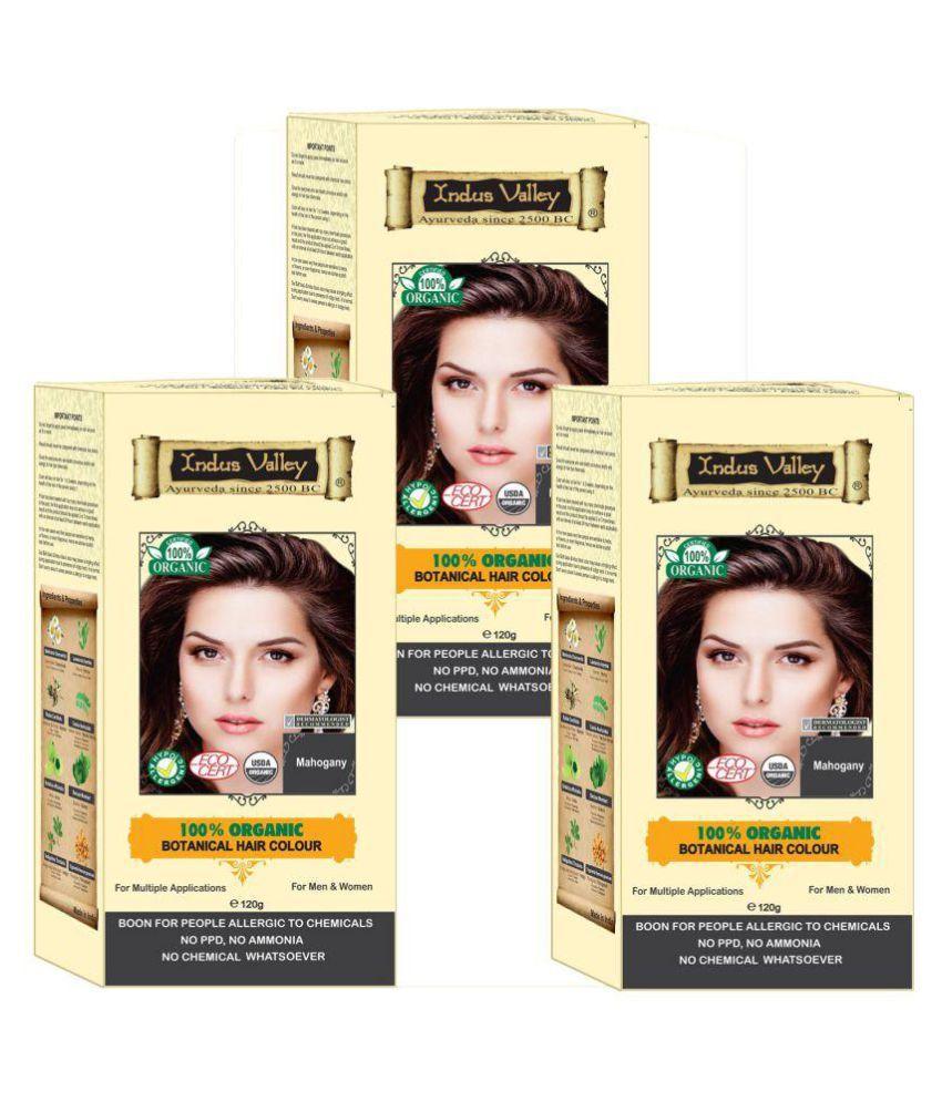 Indus Valley Hair Fibers Mahogany 360 gm Pack of 3