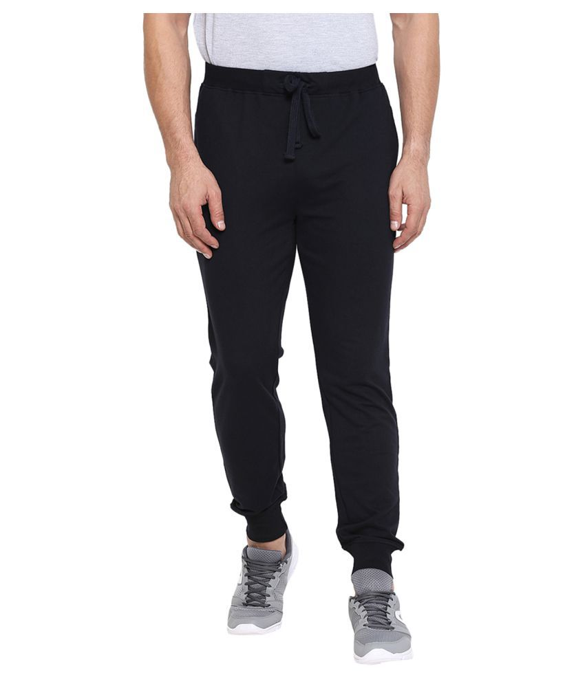 CHKOKKO Men's Cotton Gym Joggers Lower Track Pants with Pocket