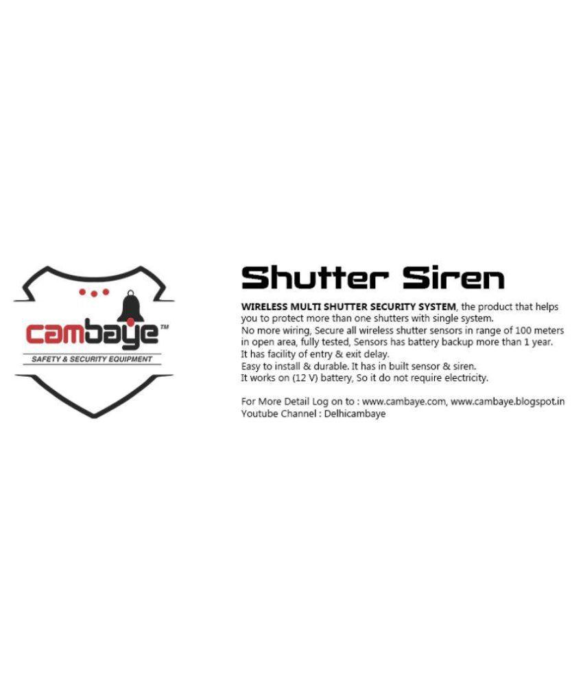Cambaye Shutter Siren with Battery Indicator