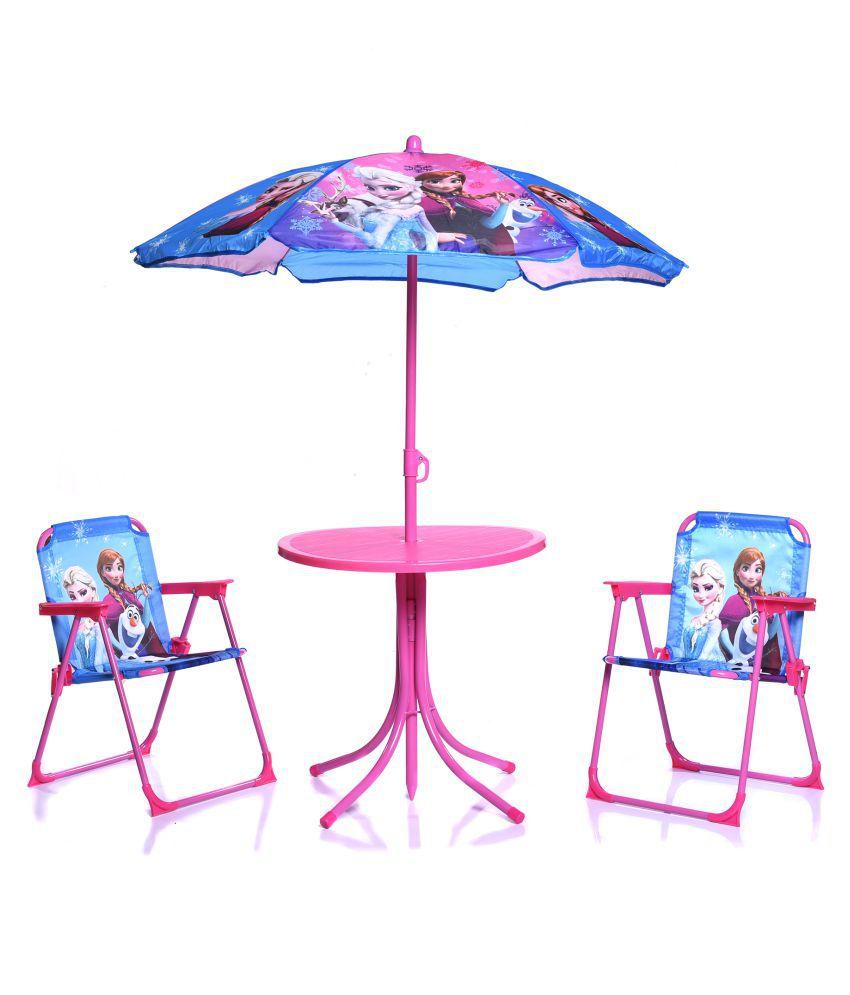 Swell Iris Kids Patio Folding Table And Chairs Set With Umbrella Customarchery Wood Chair Design Ideas Customarcherynet