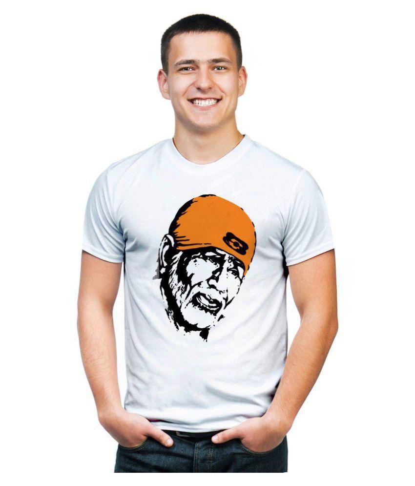 Mefunky White Half Sleeve T-Shirt