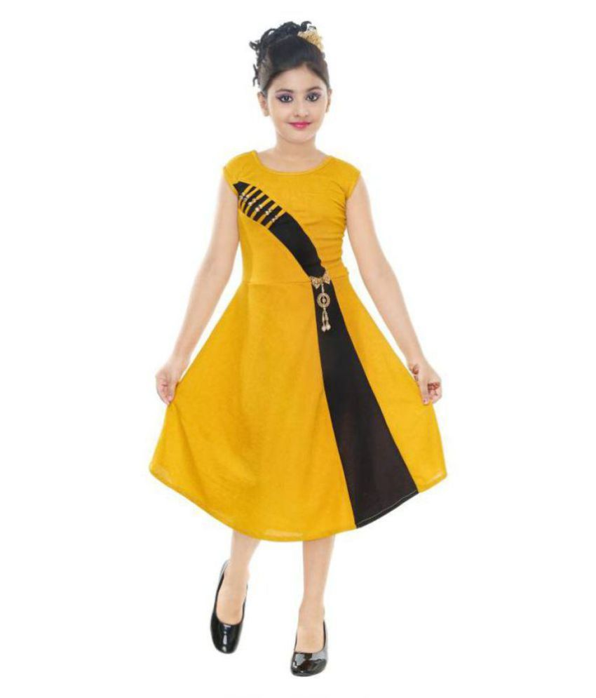 8434cdee98237 SBN Partywear Frock Dress For Girl - Buy SBN Partywear Frock Dress For Girl  Online at Low Price - Snapdeal