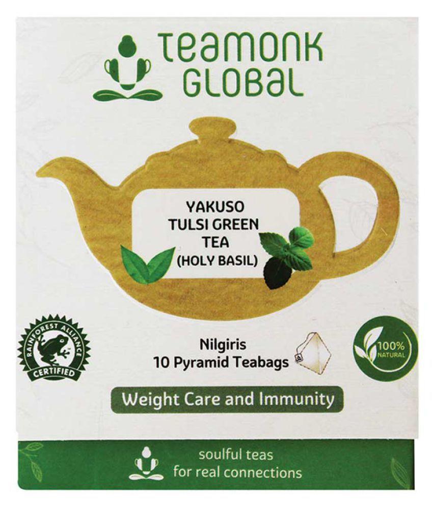Teamonk Yakuso Nilgiri Tulsi Green Tea, 10 Teabags