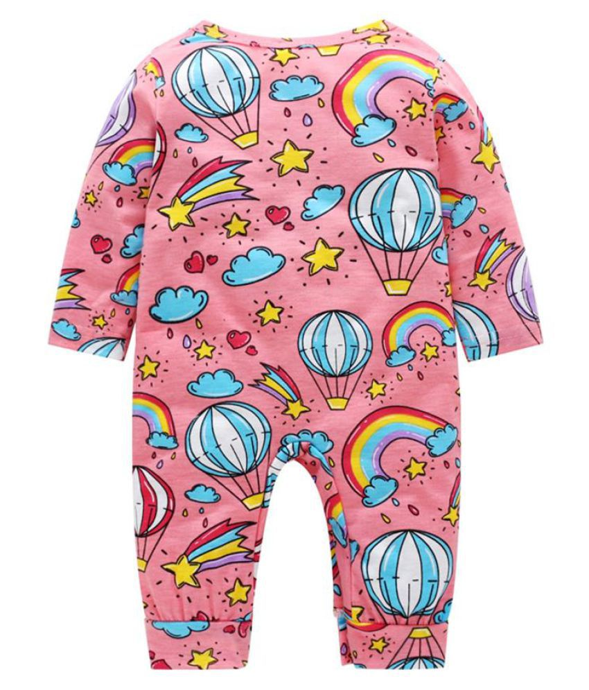 a88fdb5b62cf Infant Boys Girls Cute Fire Balloon Star Cotton Baby Romper ...