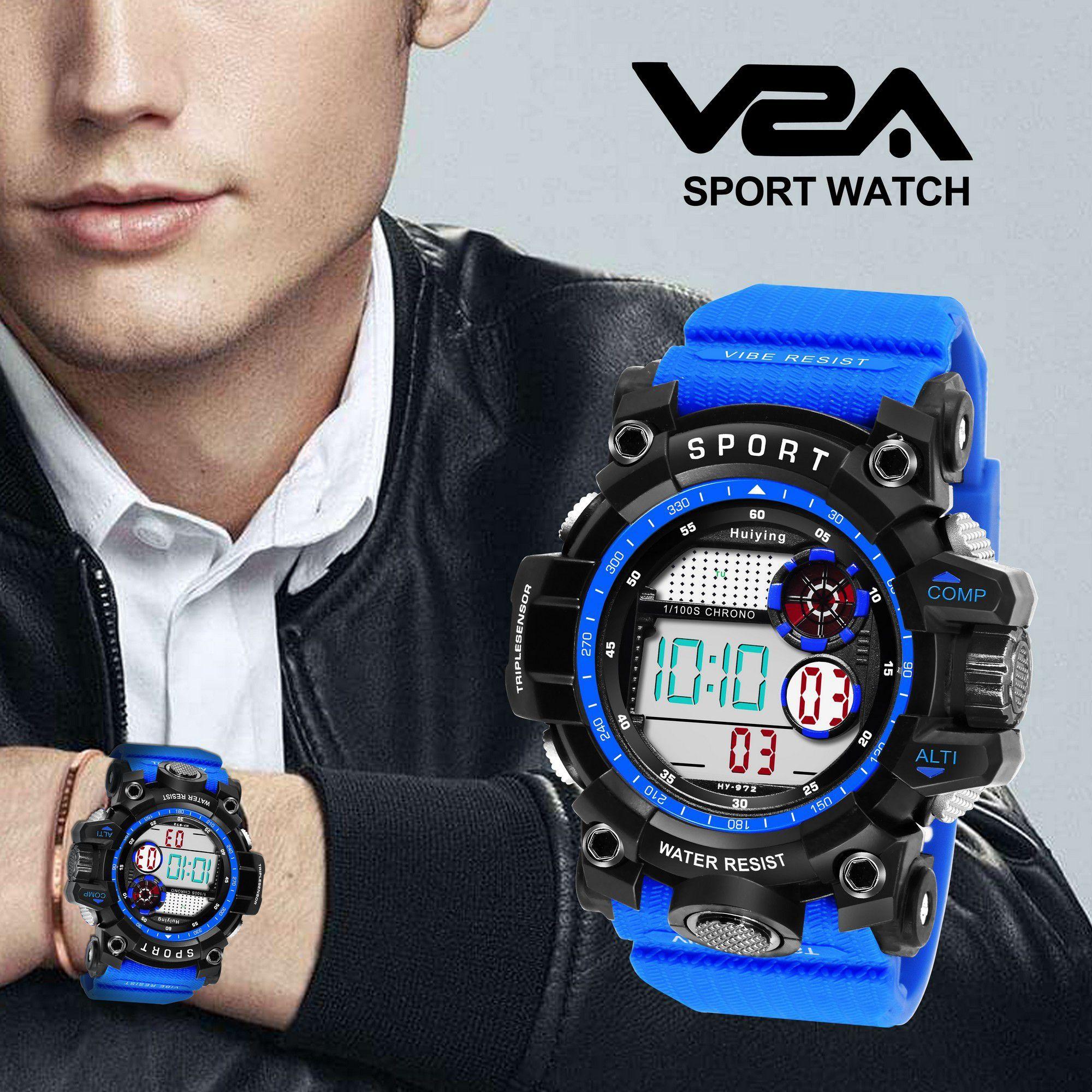 V2A 972 Resin Analog-Digital Men's Watch