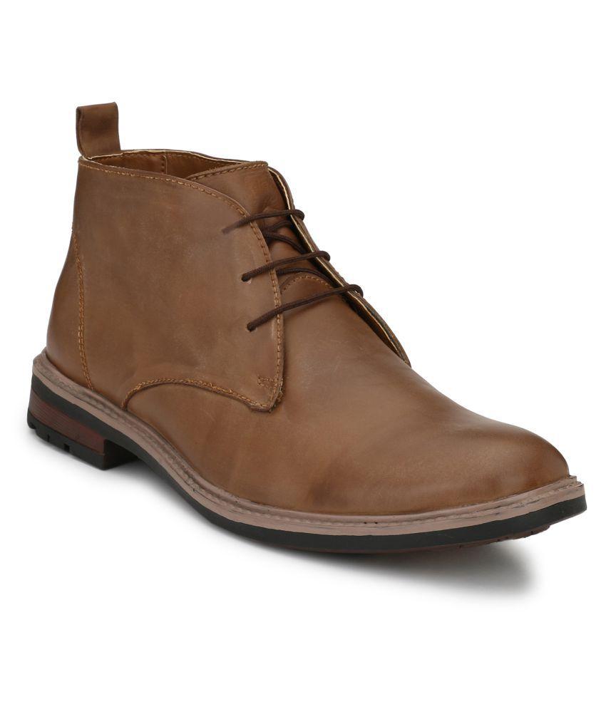 babla traders Tan Formal Boot