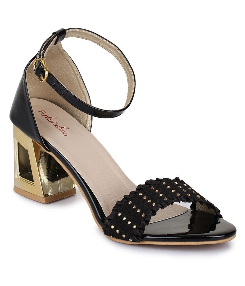Funku Fashion Black Block Heels