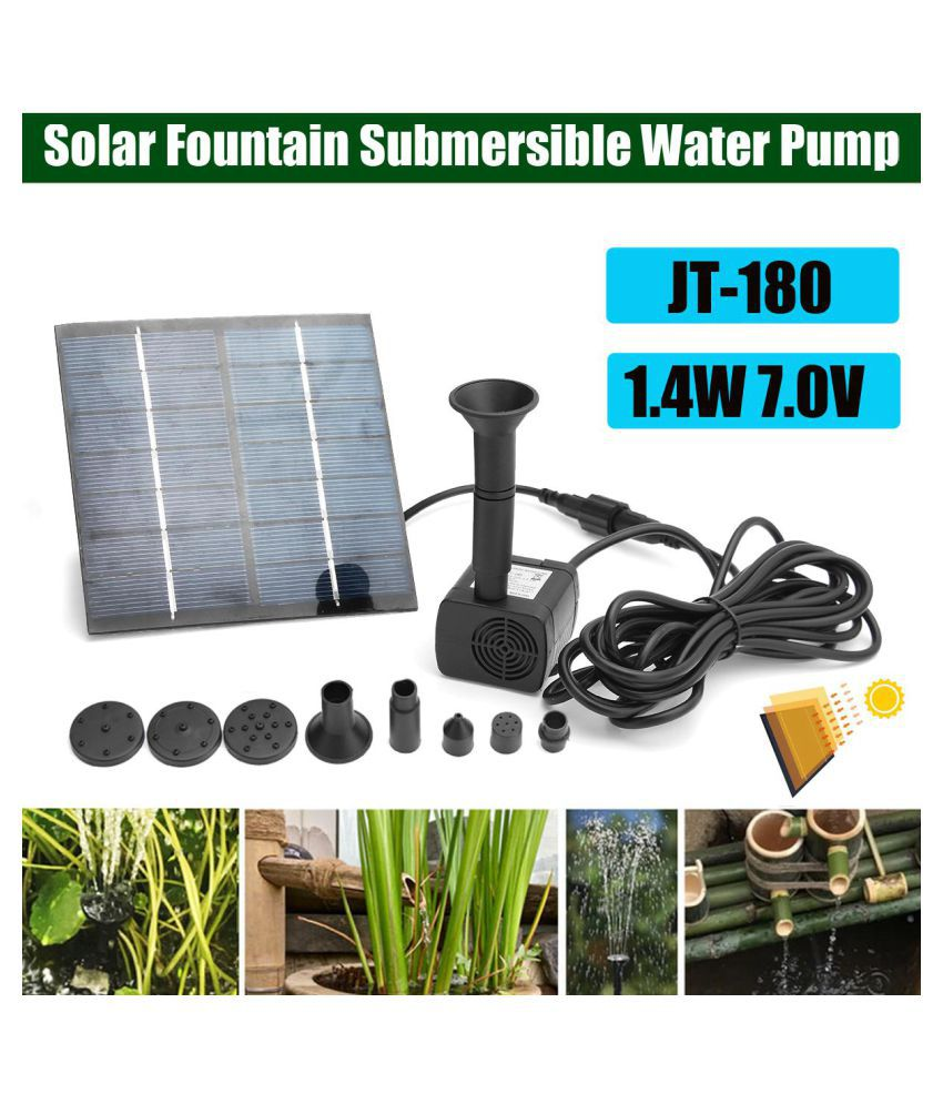 1 4W Solar Panel Powered Fountain Submersible Water Pump