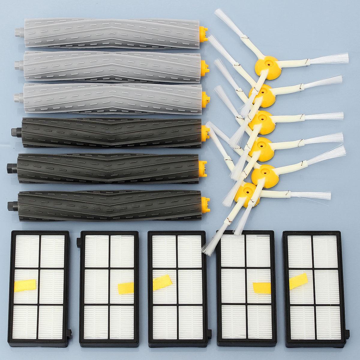 Side Brush HEPA Filter Extractor Replenishment Kit For irobot Roomba 870 880 900