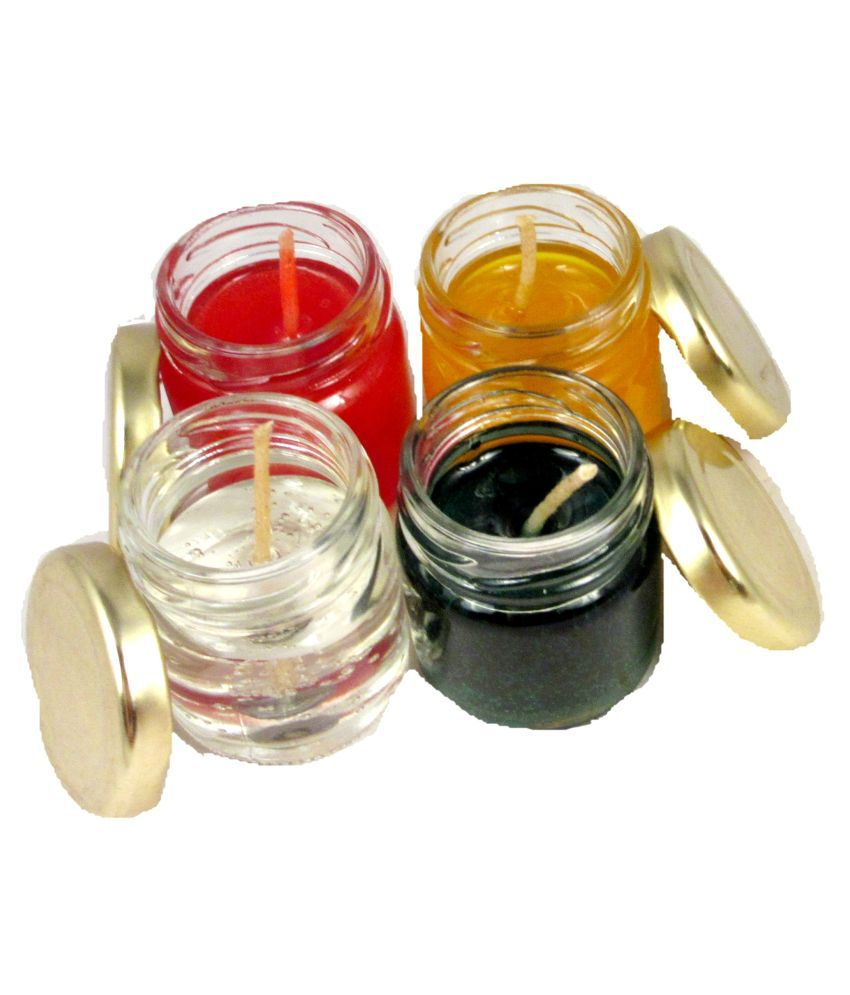 Suninow Multicolour Jar Candle - Pack of 4