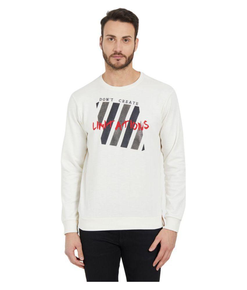 Status Quo White Round Sweatshirt
