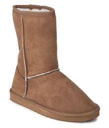 AILINGTT Zipper Boot Women Round Toe High Heel Shoes Solid