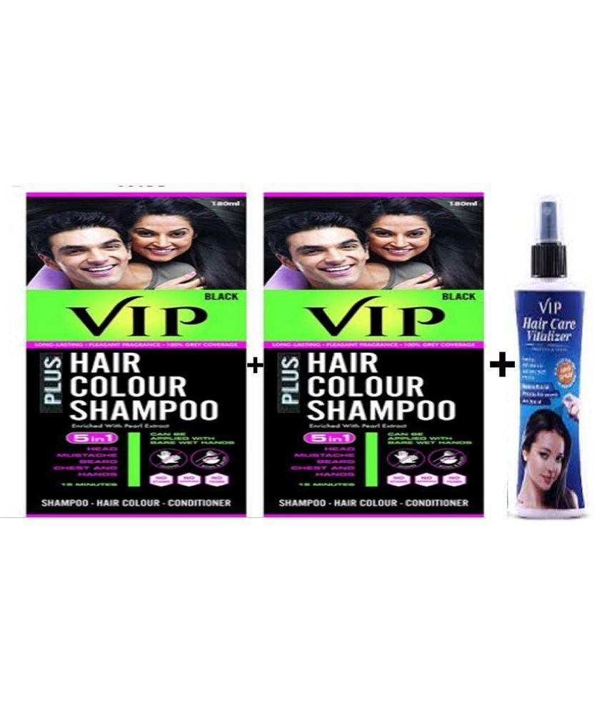 VIP Plus Semi Permanent Hair Color Black 180 mL