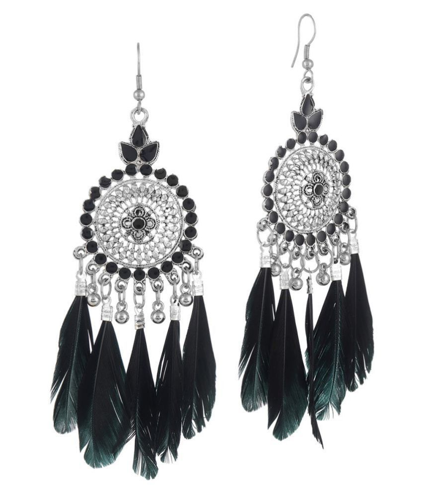 Darshini Designs daily wear black colour earrings for women and girl.
