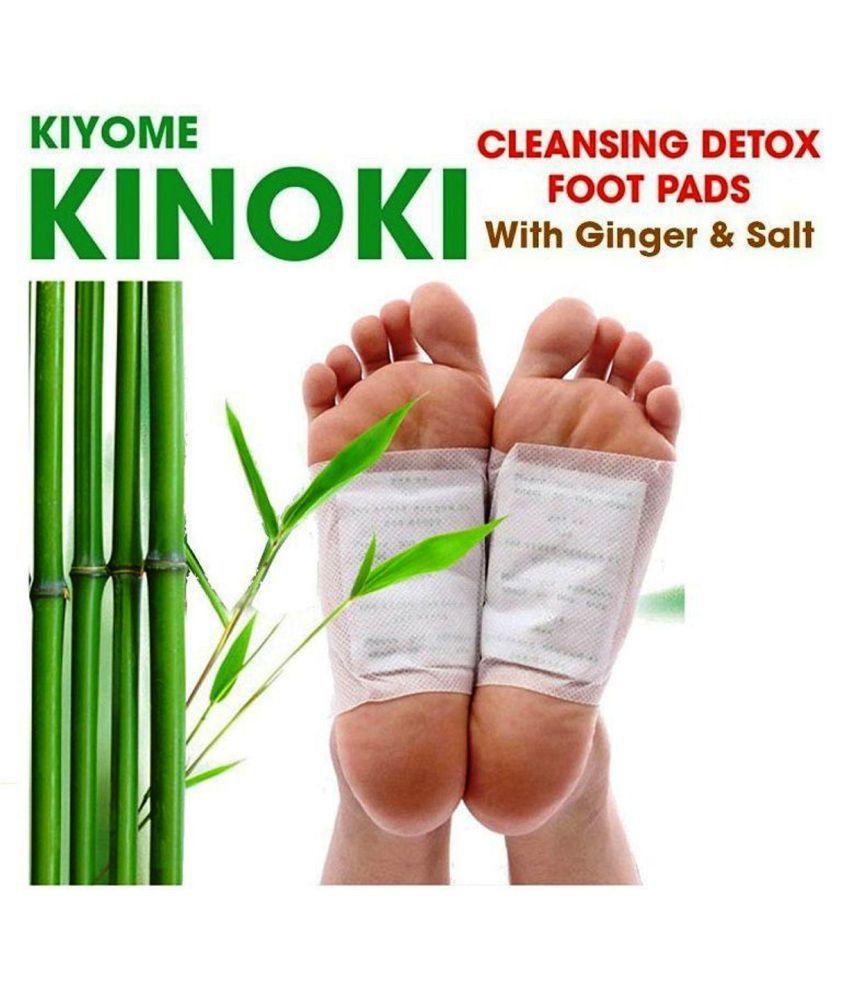 Kinoki Cleansing Detox Foot Pads- 10Pcs, White & Gold Free Size