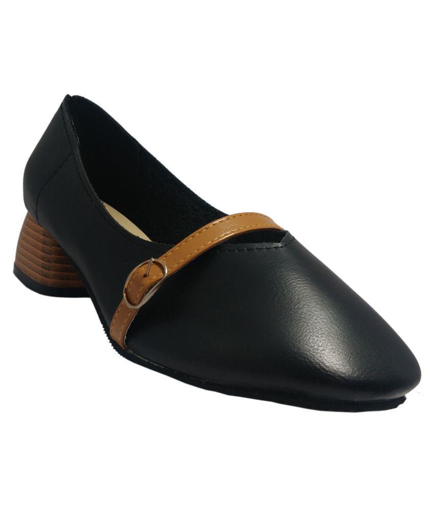 luvora Black Block Heels