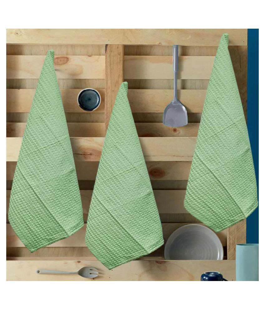 R home Set of 3 Others Cotton Kitchen Towel