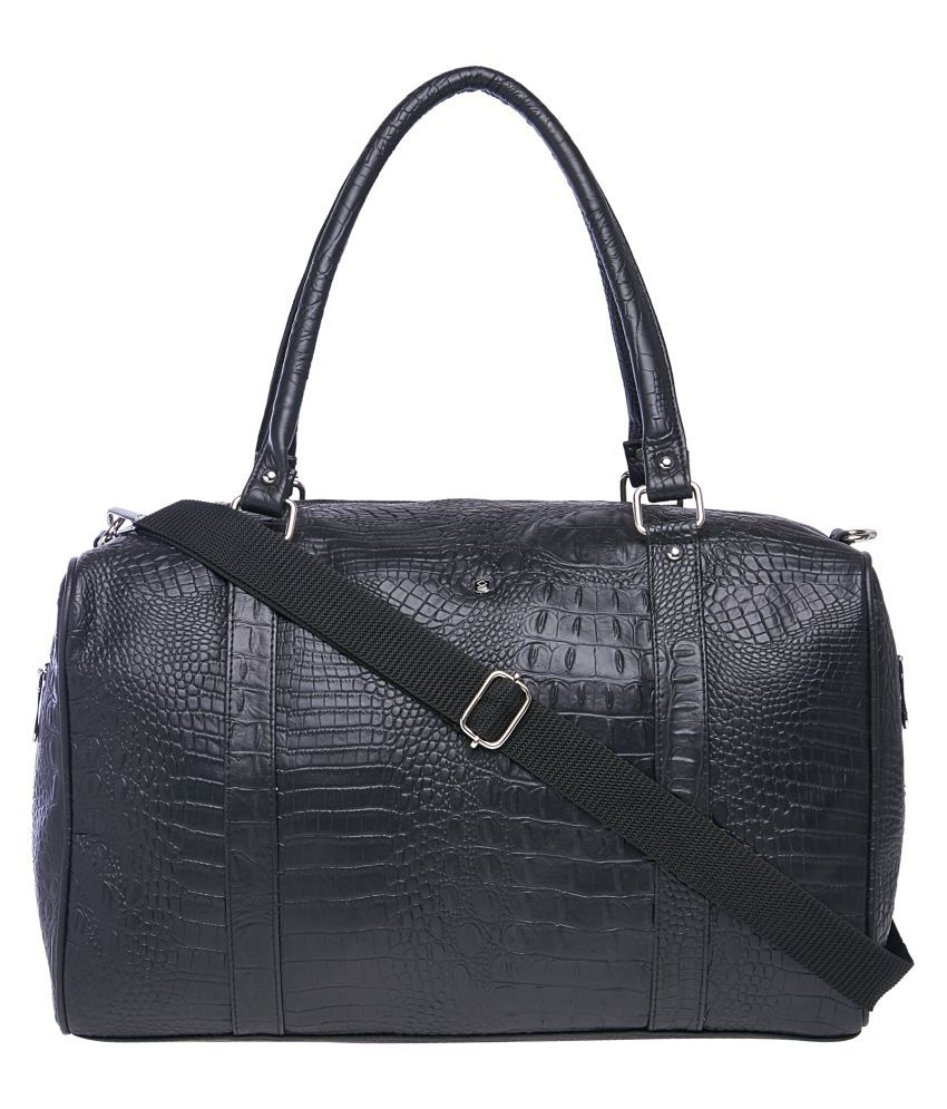 Horra Black Solid M Duffle Bag