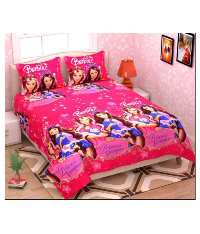 ULTIMATE CHOICE Poly Cotton Double Bedsheet with 2 Pillow Covers