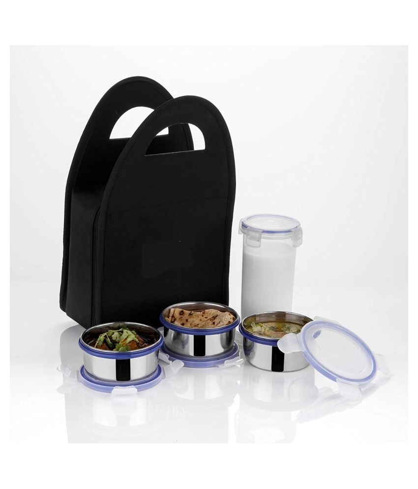 Bloo Basket Silver Steel Lunch Box