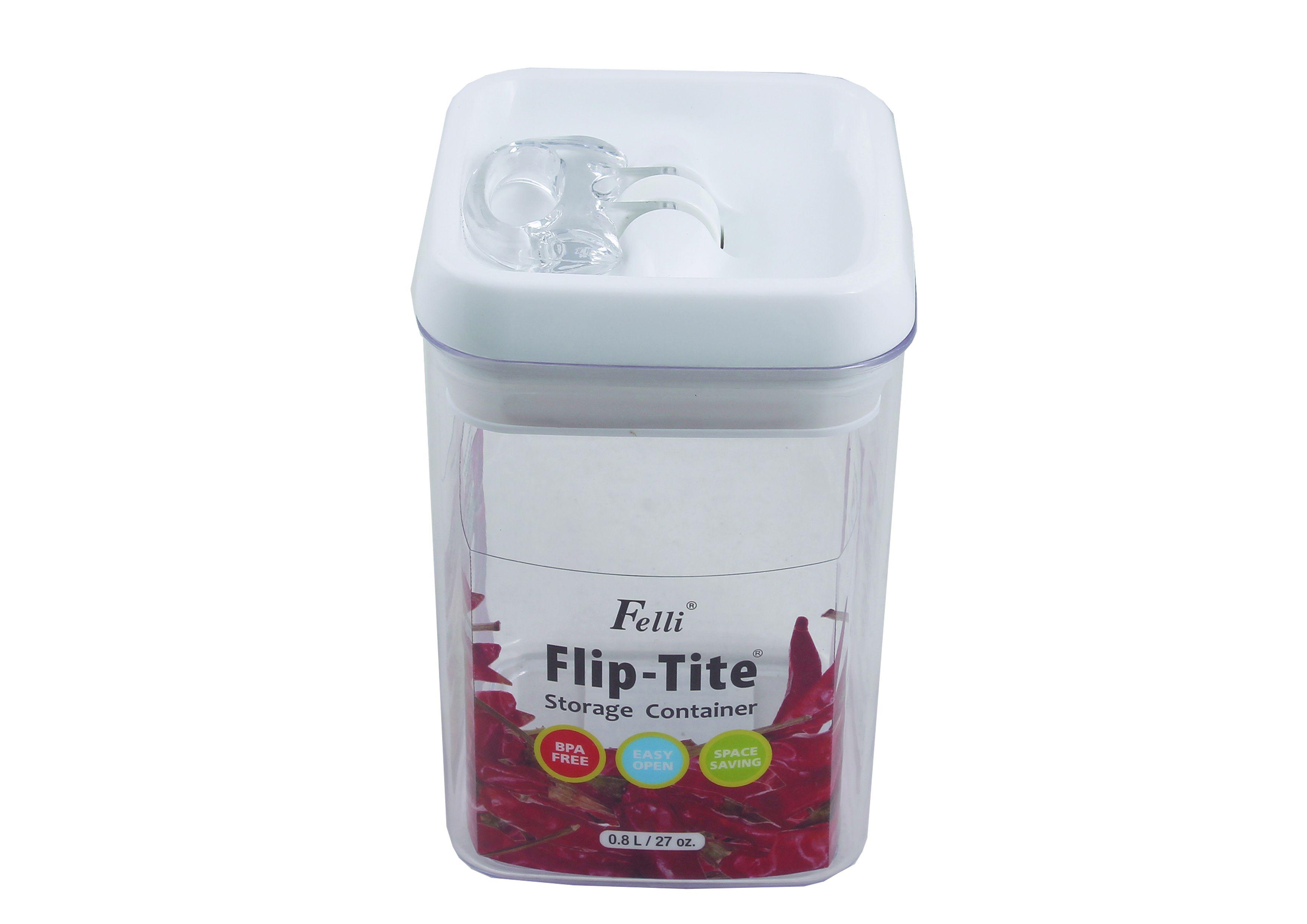 FELLI Flip-Tite BPA Free Acrylic Dal Container Set of 1 800 mL