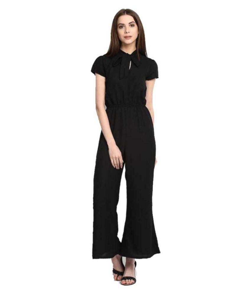 shree wow Black Crepe Jumpsuit