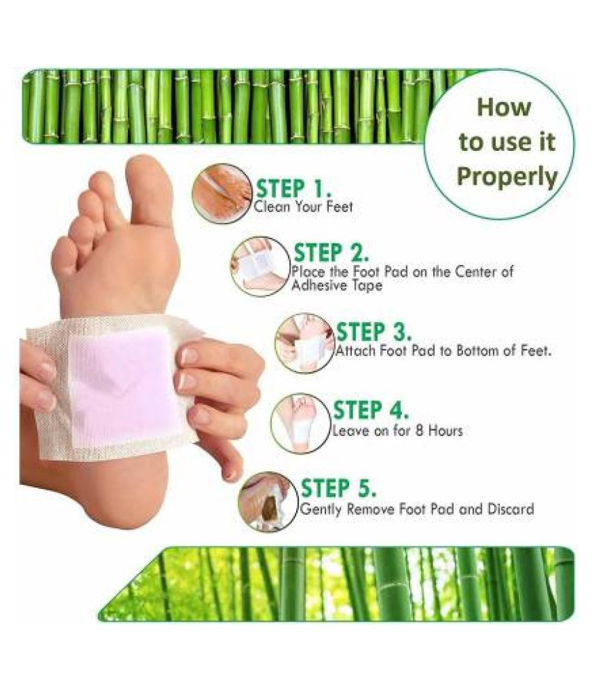 Kinoki Cleansing Detox Foot Pads- 10Pcs (Gold Or White) Free Size