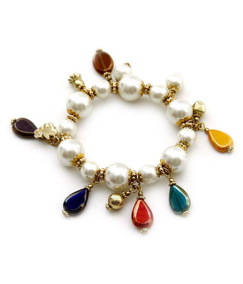 Zuri Royal Pearl & Colour Stone Bracelet