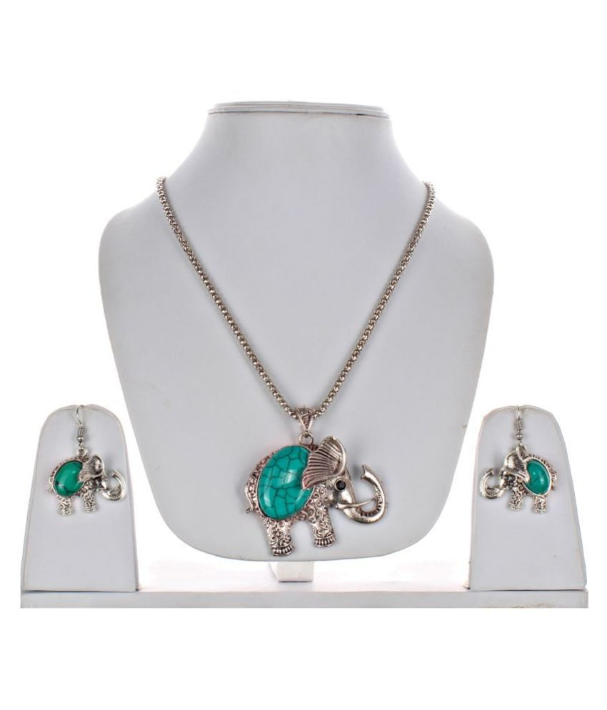 LUCKY JEWELLERY Alloy Turquoise Contemporary/Fashion Oxidised