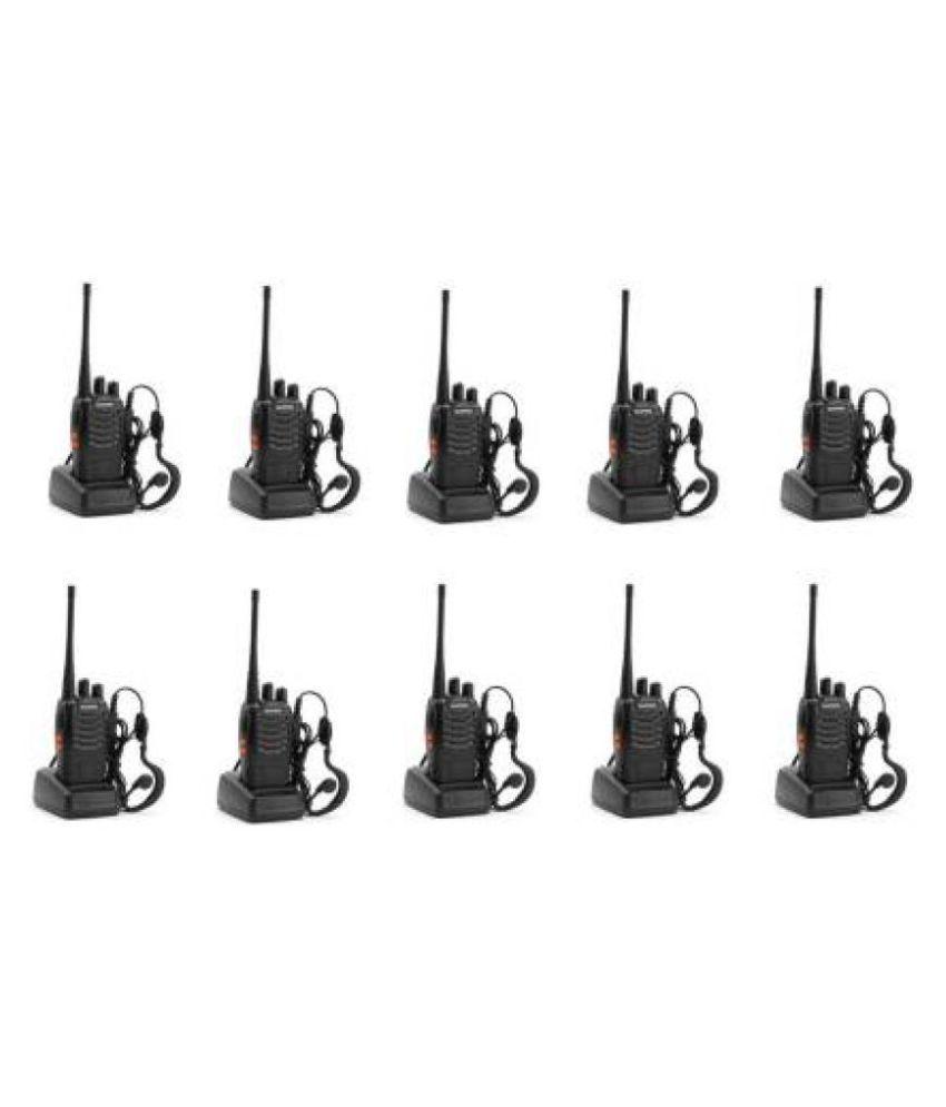 Baofeng BF-888S Two Way Radio 5W Handheld 16CH Two-Way Portable CB Radio (10PC) Walkie Talkie  (Black)