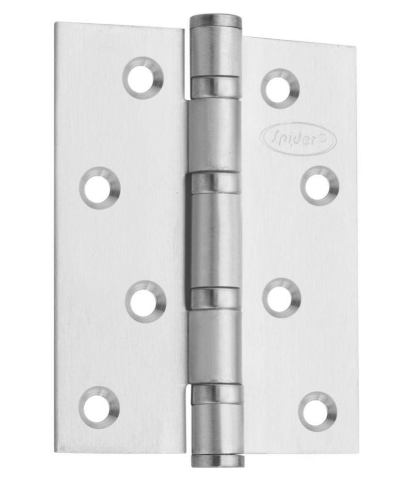 Spider Stainless Steel Ball Bearing Door Hinges with Stainless steel  Finish [ 4 Inch ], DH4325SS [ Pack of 4 Pcs. ]