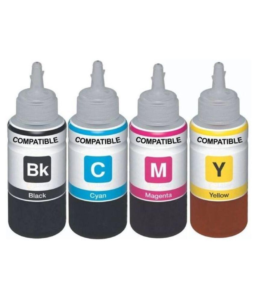 Globe REFILL 70ML 06 Multicolor Pack of 4 Ink bottle for Refill Ink For Epson L1800 Ink Tank Printer   4 Colors   70 ML Each Bottle