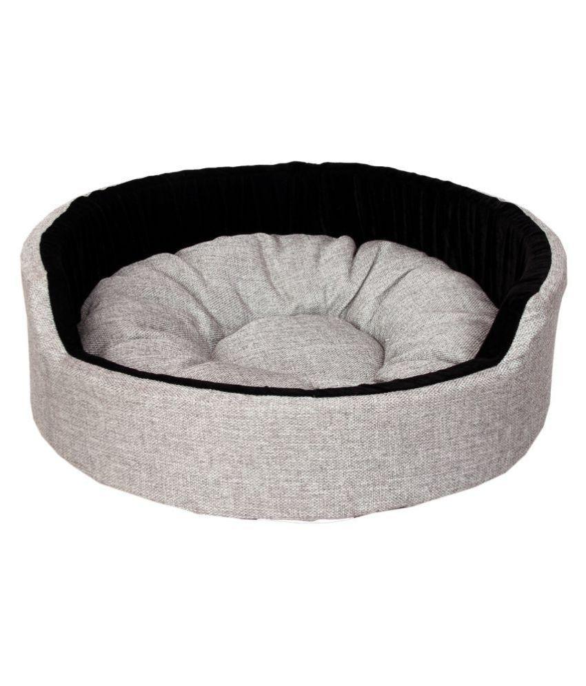 Light Grey Black  Round dog/cat pet beds