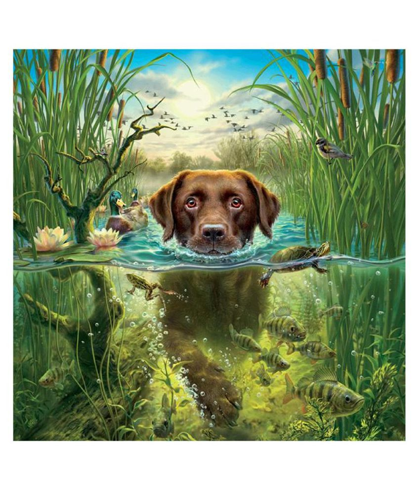 5D DIY Full Drill Diamond Painting Dog Embroidery Cross Crafts Kit Decor Picture
