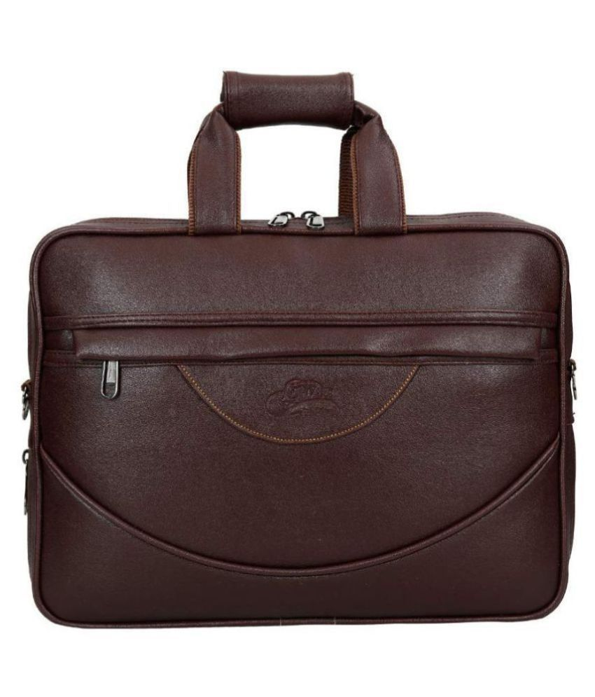 Leather Gifts pu offce laptop bag Brown P.U. Office Bag