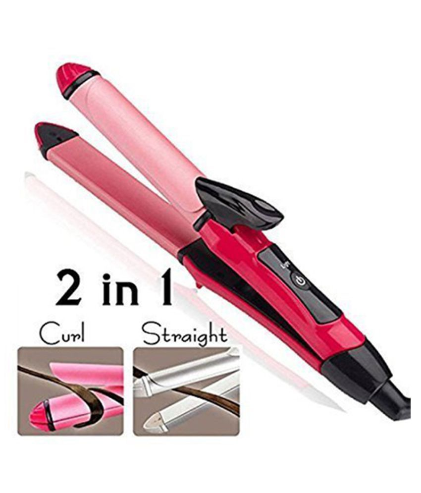 blushia 2009 2 in 1 Hair Straightener ( Pink )