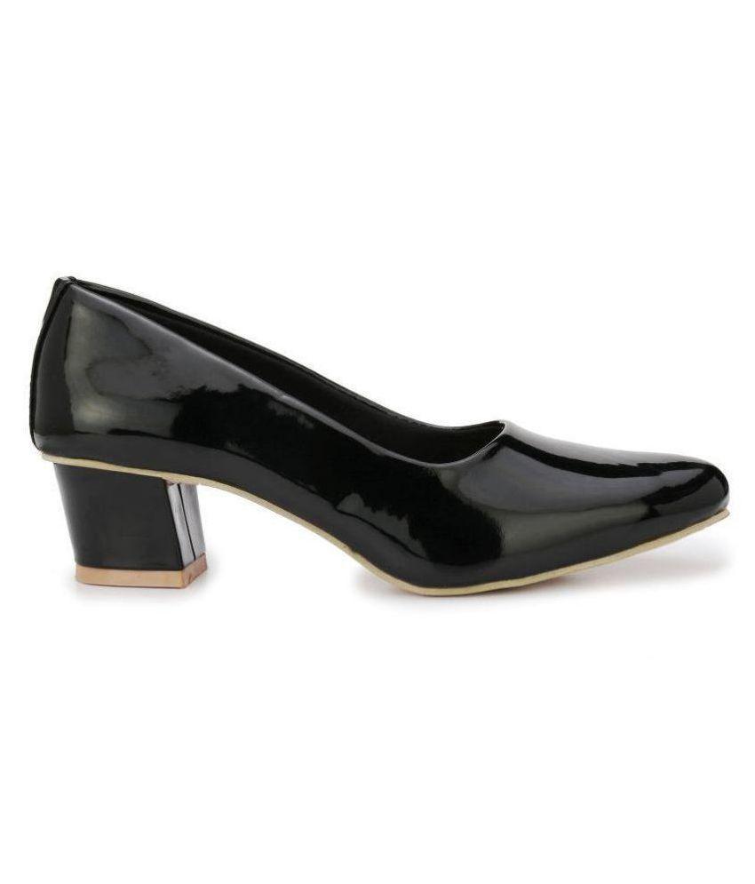 Rimezs Black Block Heels