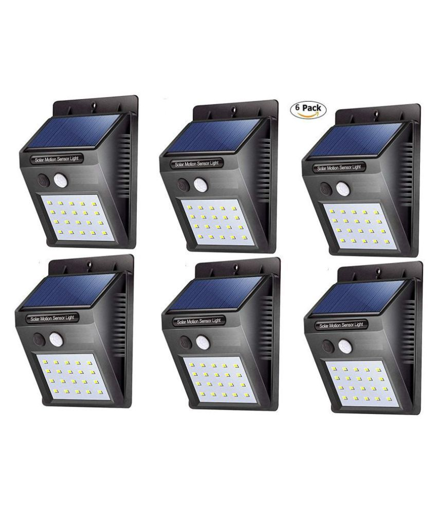 HARISWARUP 1W Solar Outdoor Wall Light - Pack of 6