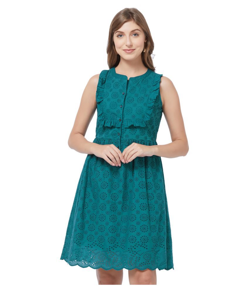 109 F Viscose Green Regular Dress