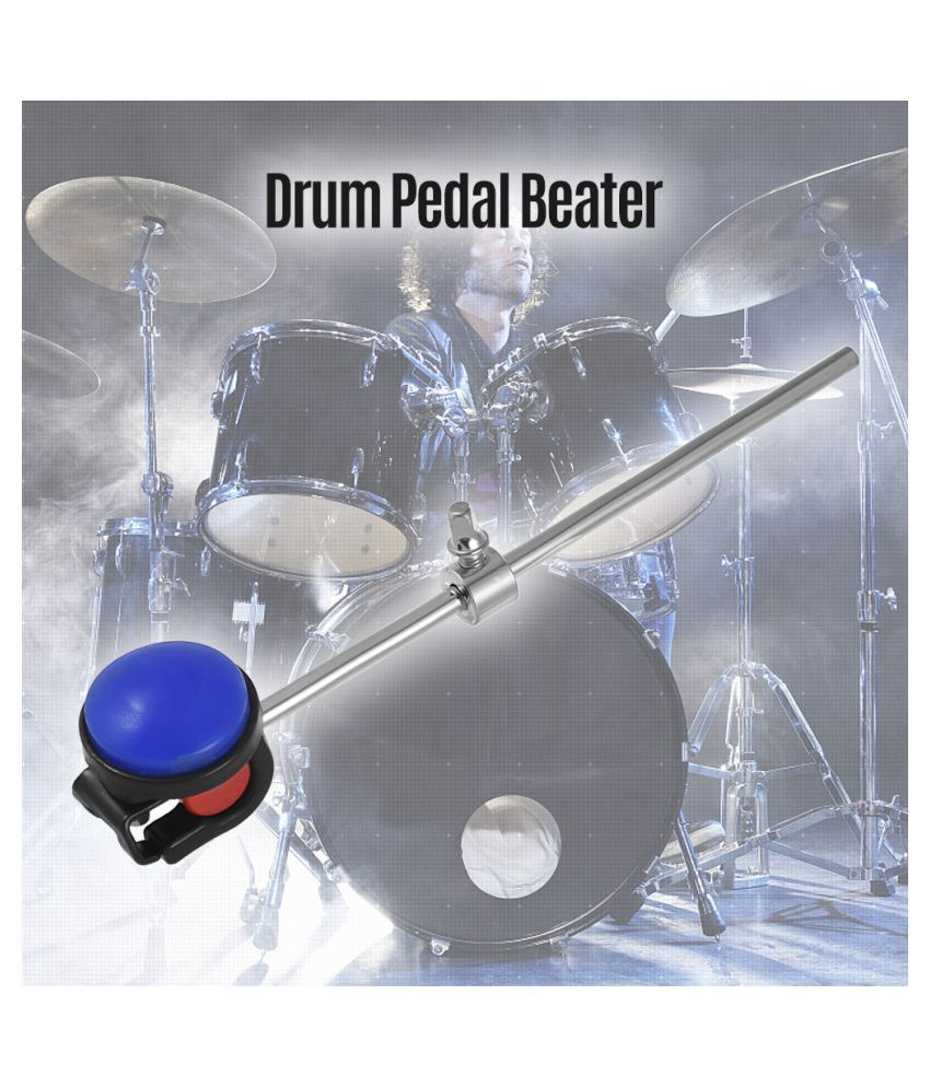 Bass Drum Beater Kick Drum Foot Pedal Beater Stainless Steel Shaft Silicone Head