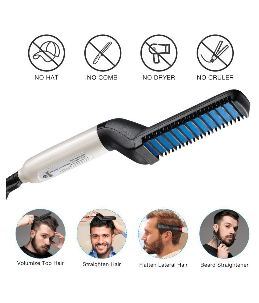 Scb Products Beard Modelling Comb Hair Straightener ( Black )