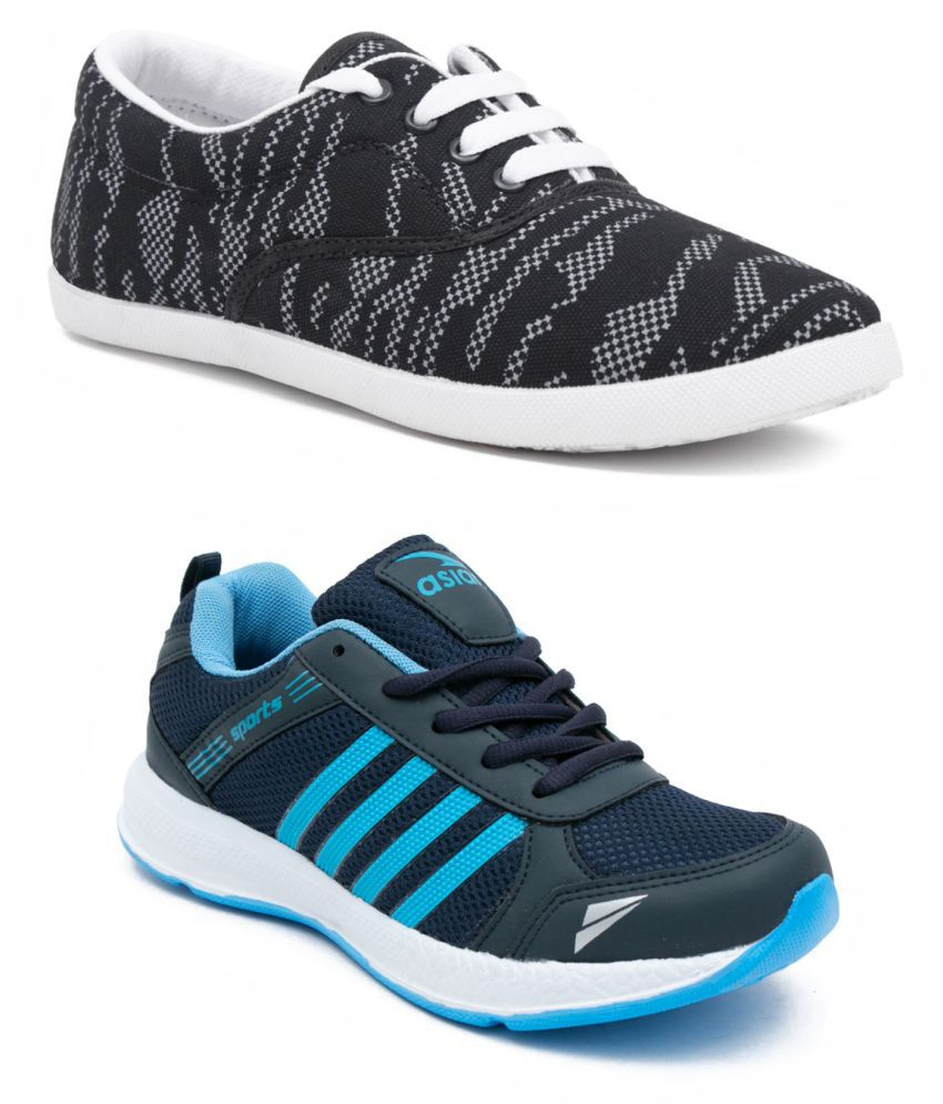 ASIAN Navy Casual Shoes